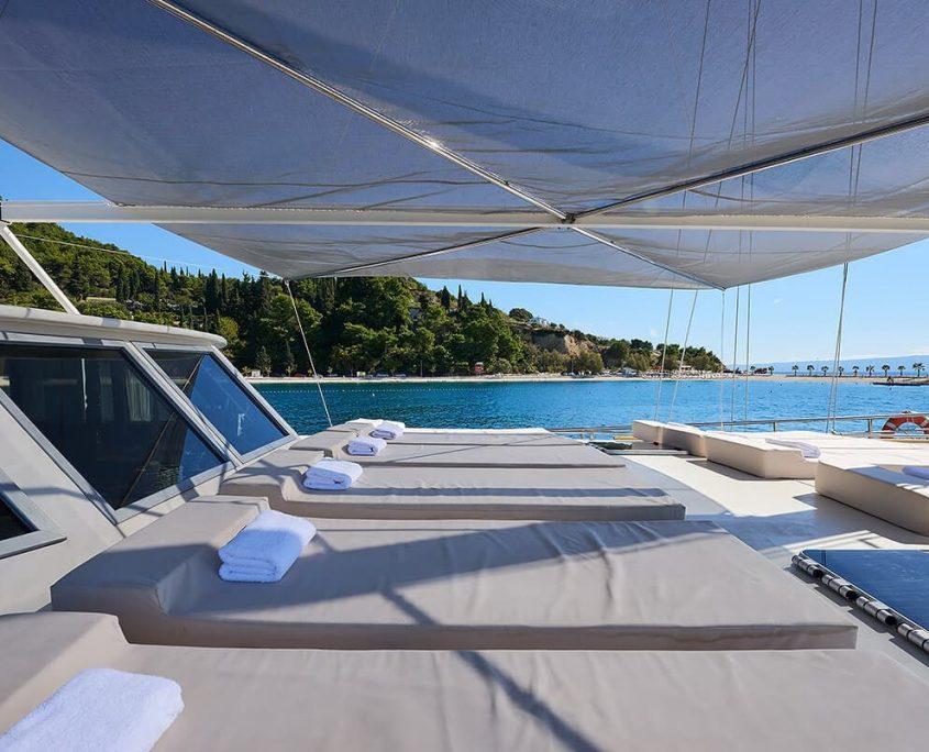 Sunbeds on Deck