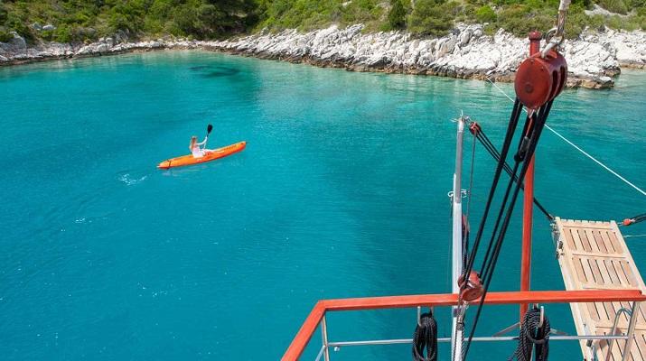 Water sport on gulet