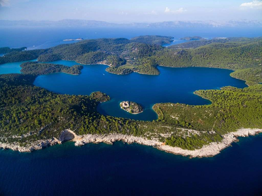 Mljet island with Monastery of Saint Mary