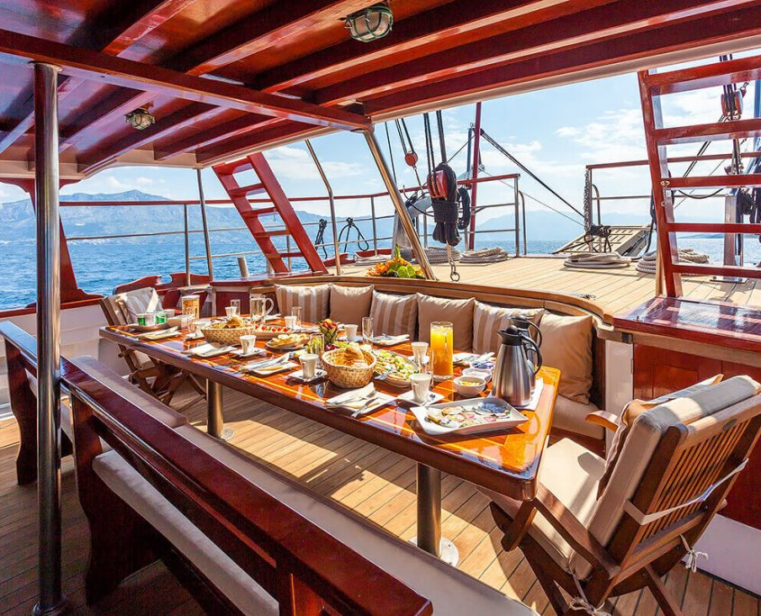 Breakfast on Aft Deck