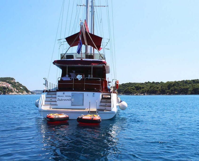 Gulet Adriatic Holiday back side