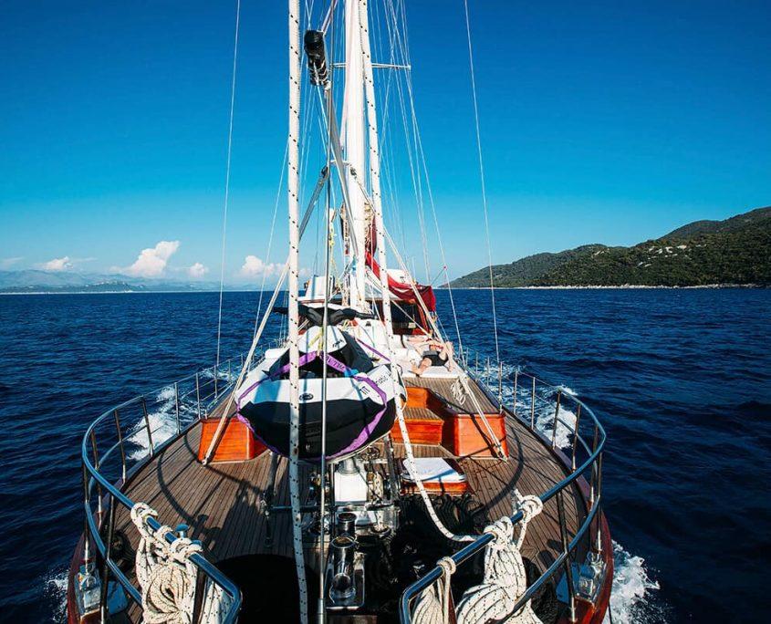 Gulet Adriatic Holiday from bowspirit