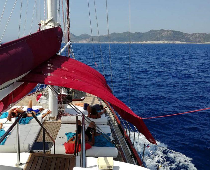 Gulet Adriatic Holiday sundeck