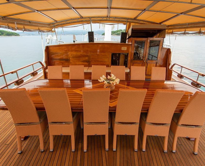 KADENA Dining area on Aft deck