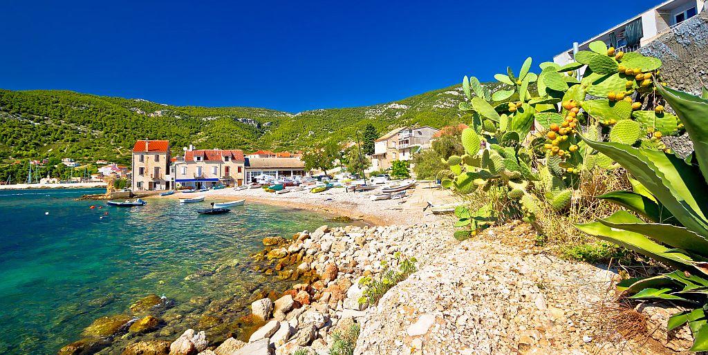 Idyllic Mediterranean Beach In Komiža Village