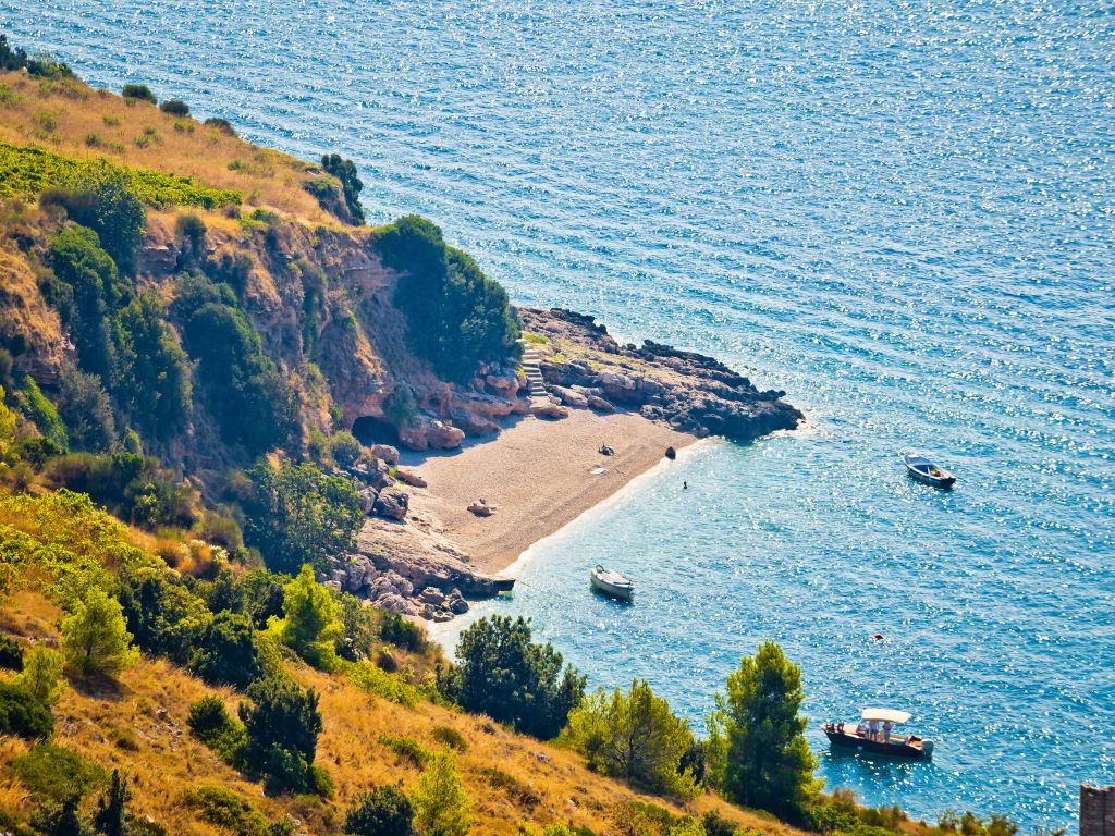 Idyllic Secret Beach On Brač Island