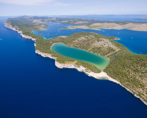 Slano lake in nature park Telascica, Dugi otok