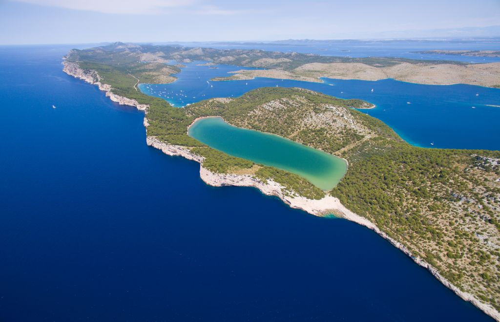 Slano lake in nature park Telascica, Dugi otok