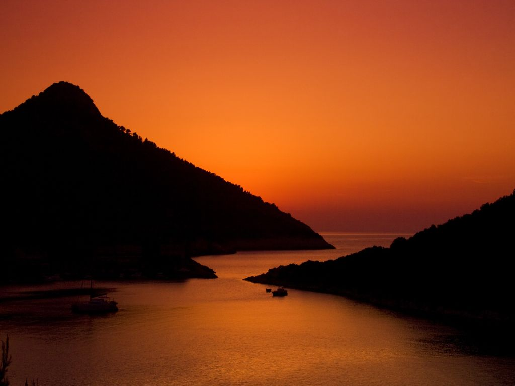 Sunset On Lastovo Island