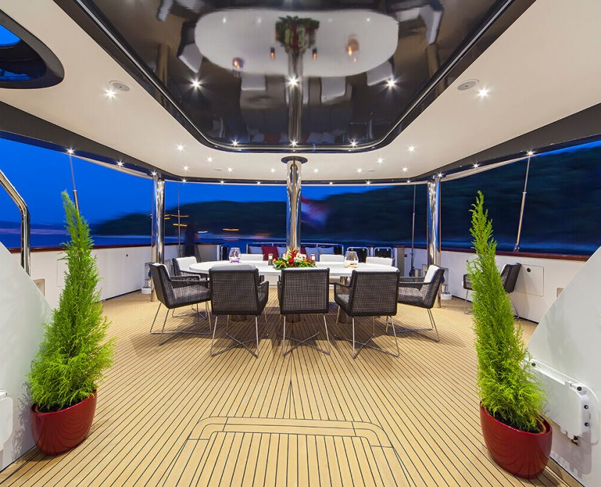Evening view on Aft Deck