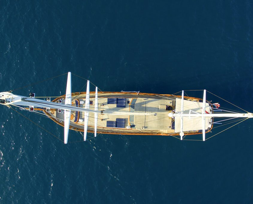 Aerial view of Queen of Datçia