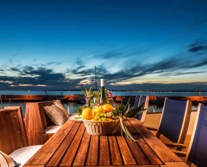 Deck evening