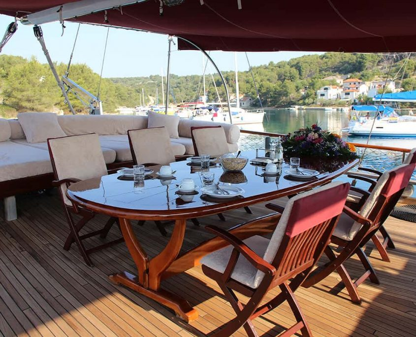 Dining Area on Aft Deck