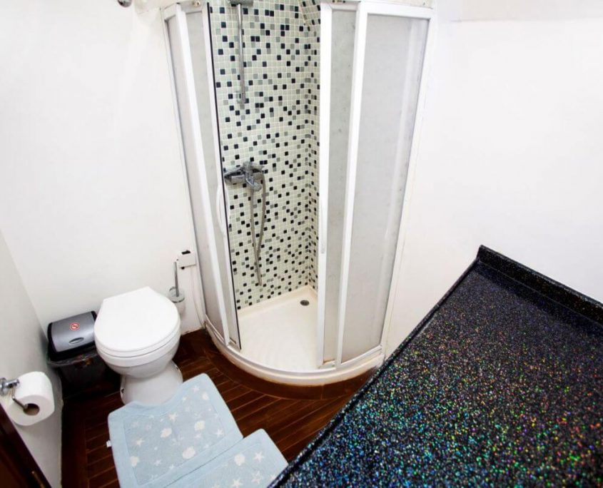 Large bathroom with shower box