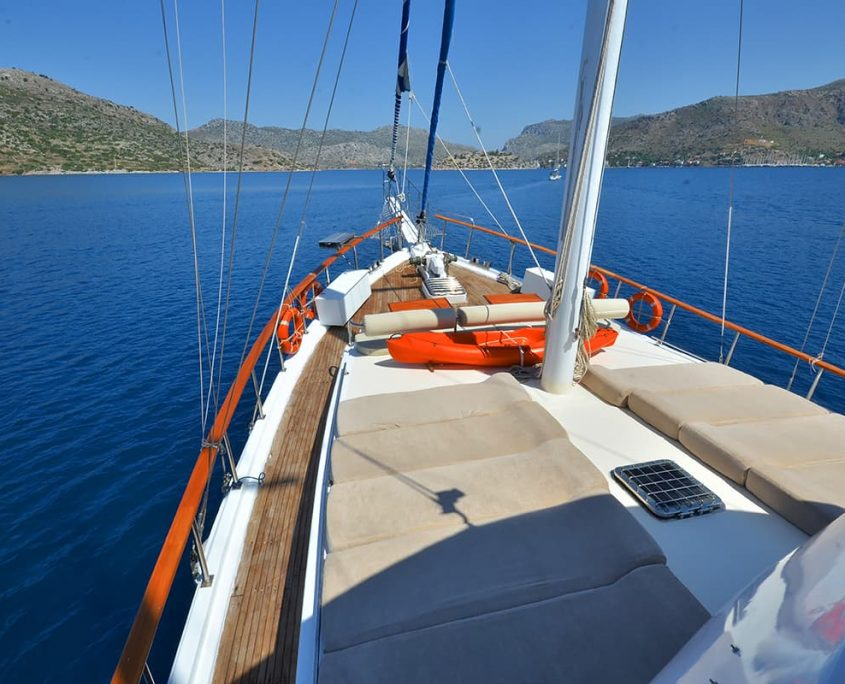 Sun deck on gulet Sirena E