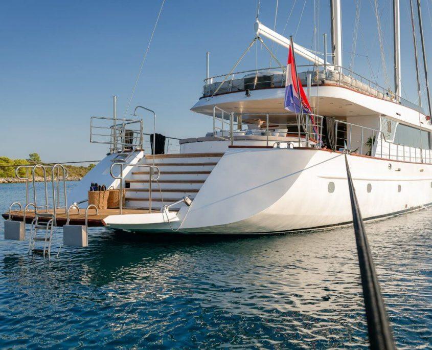 Beautiful yacht Lady Gita