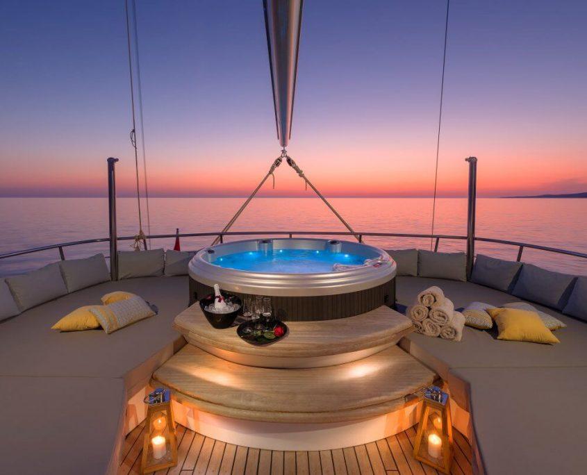 Deck night view