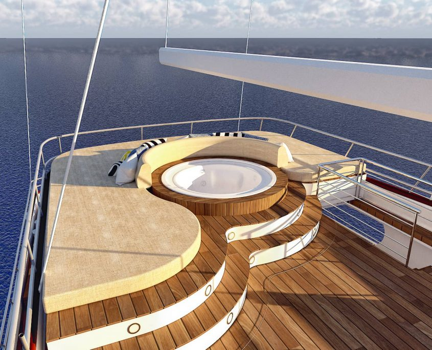 LADY GITA Jacuzzi on flybridge