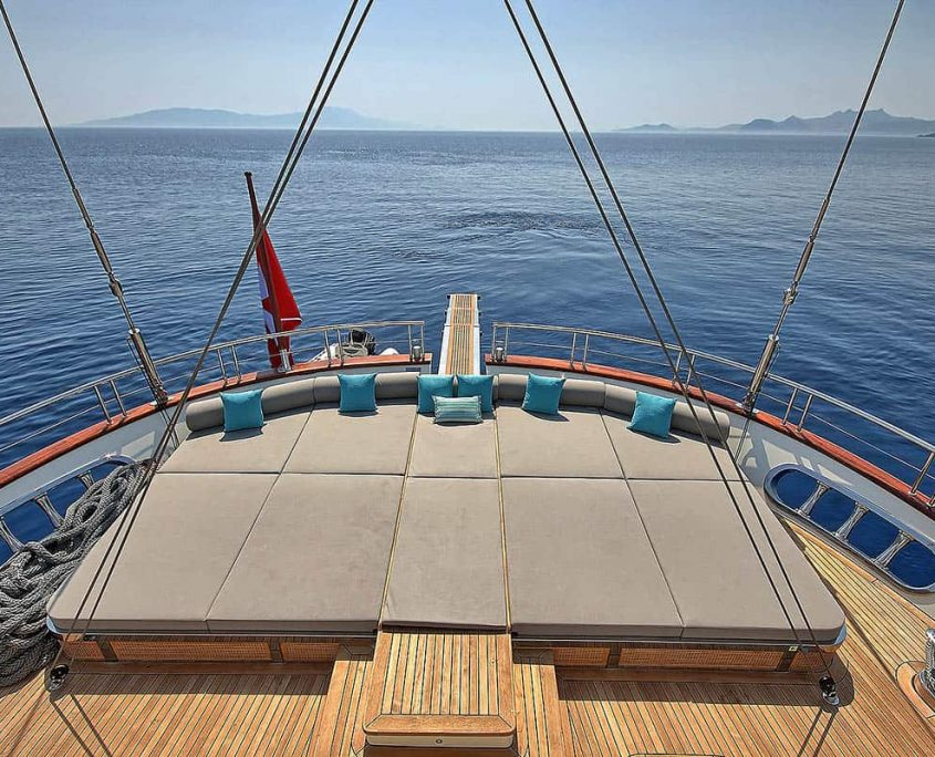 MEIRA Cushioned area on Aft deck