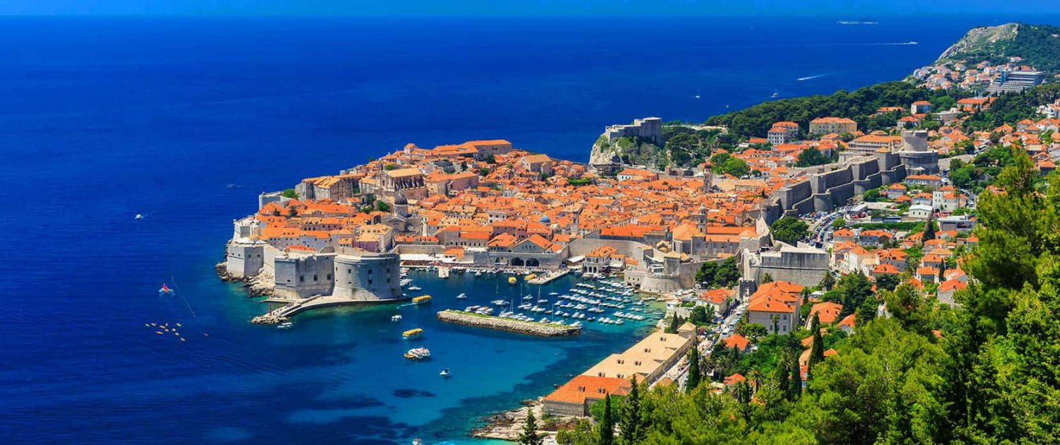 A panoramic view of the walled city Dubrovnik Croatia