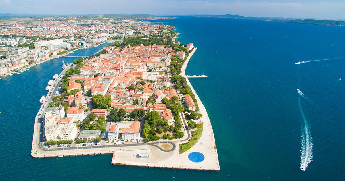 Aerial view of Zadar