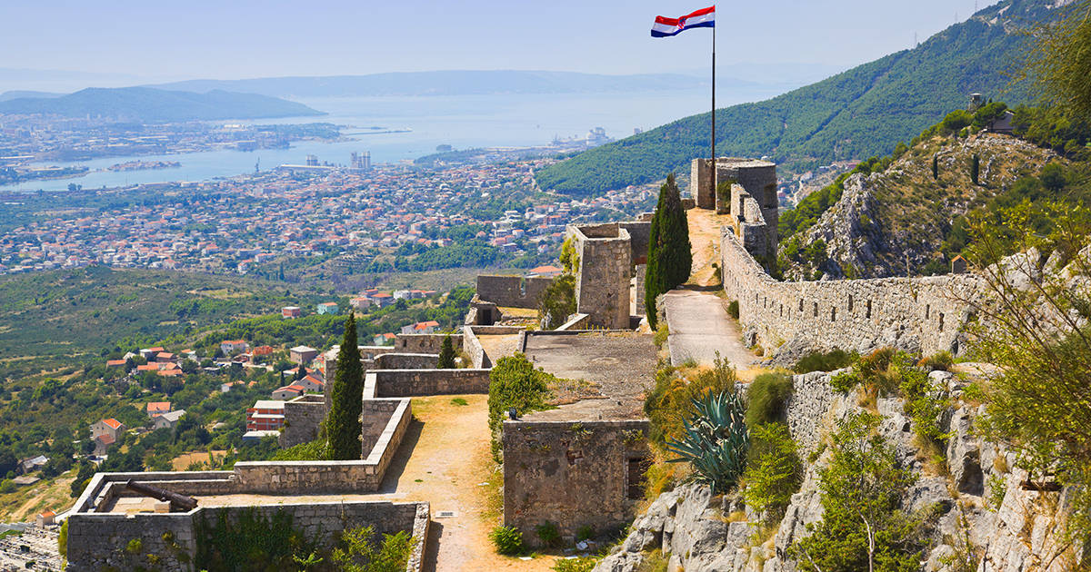 Old fort in Split, Croatia - architecture background
