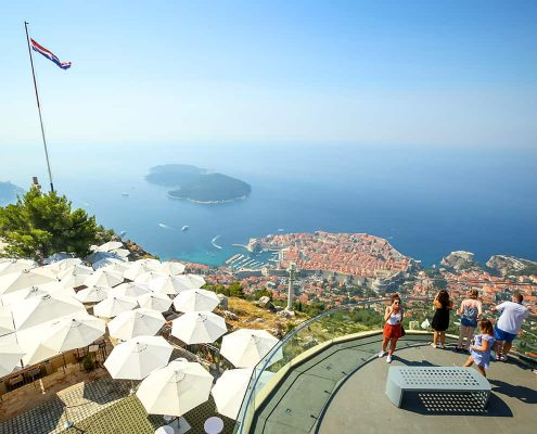 View above Dubrovnik