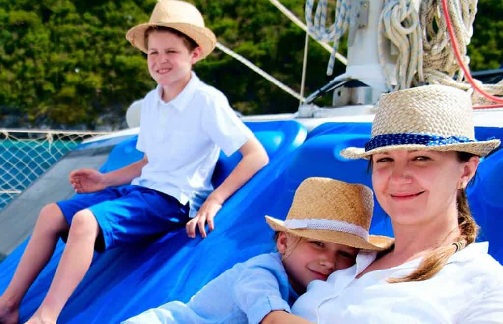 Family cruise on gulet